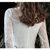 Multi-Ways Lace Detachable Tulle Skirt Bridal Shooting Dress