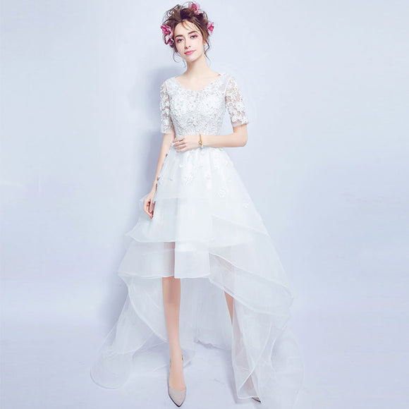 High Low Skirt Travel Wedding Dress