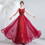 Beaded Floral Illusion Neckline Evening Gown
