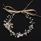 Alloy Sash Wedding Hair Ornament With Rhinestones and Pearls