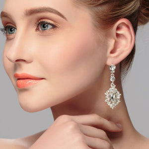 Delicate Wedding Earrings with Rhinestones
