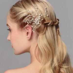 Wedding Hair Ornament Pin With Pearls