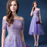 Elegant Off the Shoulder Tulle Flared Cocktail Party Dress