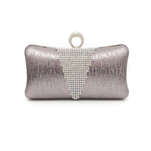 Morden Evening Handbag Clutch with Rhinestone and Tassels