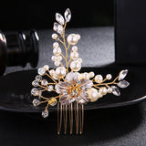 Amazing Alloy Wedding Hair Ornament Comb With Pearls & Rhinestones