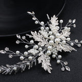 Marvelous Wedding Hair Ornament With Rhinestones and Pearls