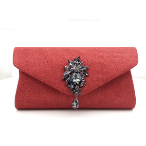 Glimmer PU Evening Handbag Clutch with Diamond