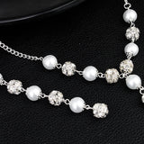 Trendy Pearls Wedding Evening Party Backdrop Necklace