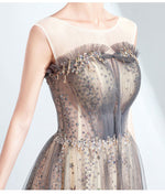 Illusion Neckline Sleeveless Sequin A-line Ball Gown
