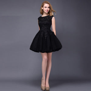 White Puffy Multi Layers Lace Cocktail Party Dresses