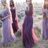 Mix Match Purple MULTI WAY Sweetheart Tulle Bridesmaid Dress-ALICE