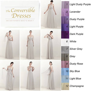 Custom-made Size/Color of Multi Way Convertible Beach Wedding Bridesmaid Dresses Vacation Dress