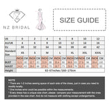 NZ Bridal Princess Embroidered Wedding Gown Tassel Beads Flare Sleeves Wedding Gown