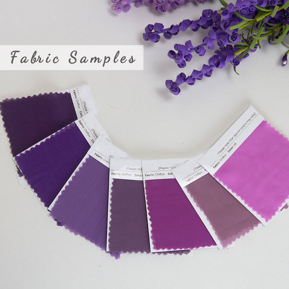 Fabric Samples Chiffon Convertible Bridesmaid Dress Swatches