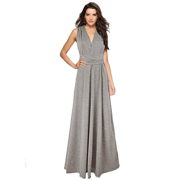 Speckled Light Grey Endless Ways Convertible Beach Wedding Bridesmaid Dresses