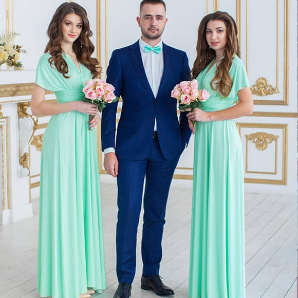 Mint Infinity Wrap Bridesmaid Dresses Endless Way Convertible Maxi Dress