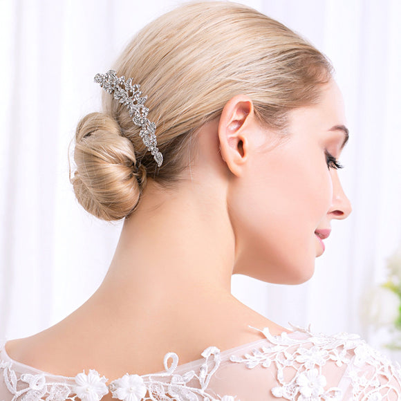 Amazing Alloy Wedding Hair Ornament Comb With Rhinestones