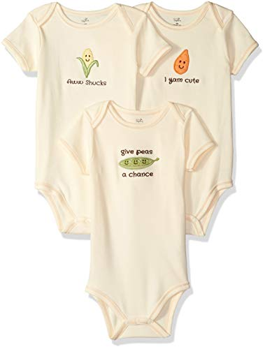 Organic Cotton Bodysuits, Corn 3-Pack, 3-6 Months