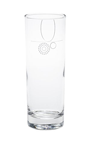 Portion Control Drinking Glass with Etched Fill Lines