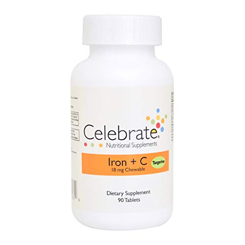 Iron + C 18 mg chewable - Tangerine - 90 Count from Celebrate