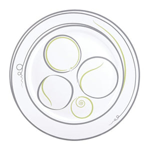 Portion Control Dinner Plates, Set of 4
