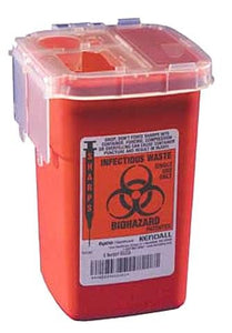 Medline Sharps Container Biohazard Needle Disposal Container - 1 Quart
