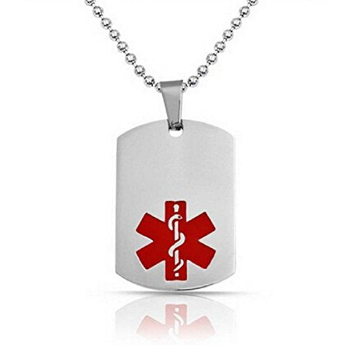 Diabetes Medical Alert Engraved Dog Tag With 22