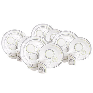 16-Piece Portion Control Dinnerware Set, Service for 4
