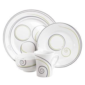 4-Piece Portion Control Dinnerware Set