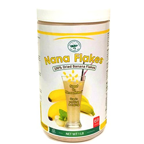 Nana Flakes 100% Pure Banana Flakes Banana Medical Food Powder (1 Pound)