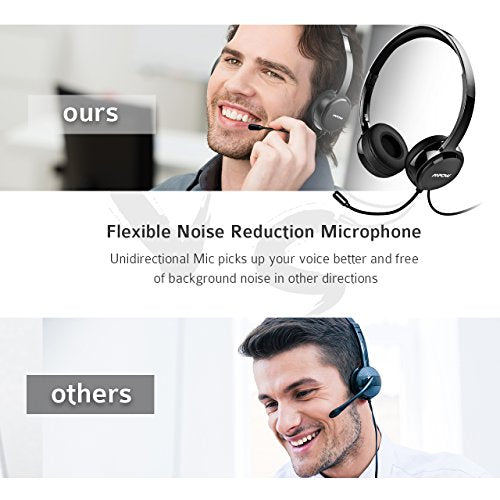 Mpow USB Headset/ 3 5mm Computer Headset with Microphone