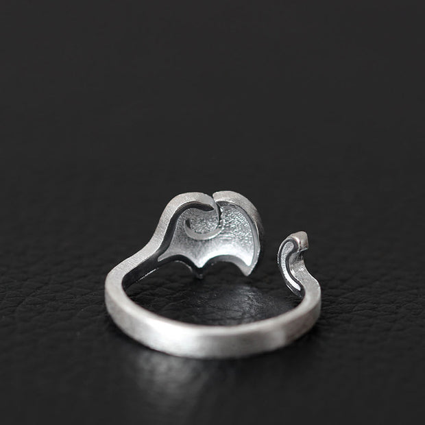 Elephant Ring of 925 Sterling Silver – World With Wildlife
