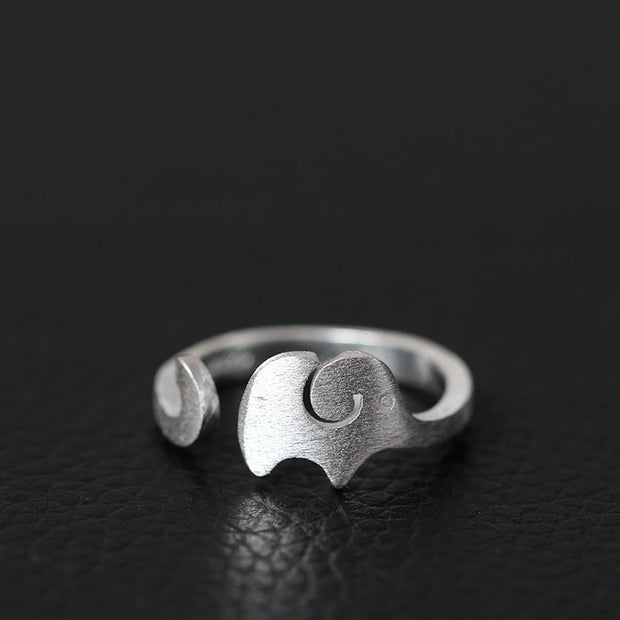 Adjustable Elephant Ring of 925 Sterling Silver – World With Wildlife