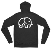 Lightweight Elephant Zip Hoodie Charcoal Dark Grey – World With Wildlife