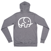 Lightweight Elephant Zip Hoodie Heather Dark Grey – World With Wildlife