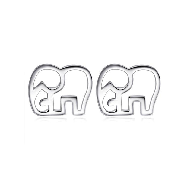 minimalist elephant earrings of 925 sterling silver – World With Wildlife