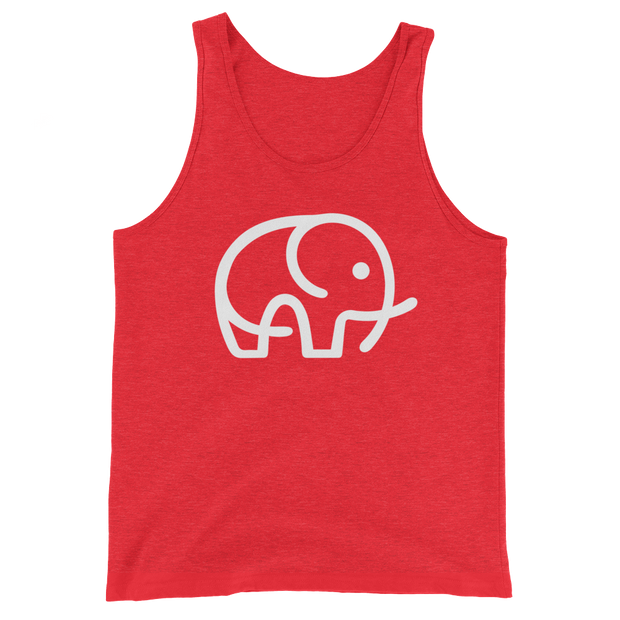 Red Elephant Charity Tank Top: Elephant Conservation Tops & Tees