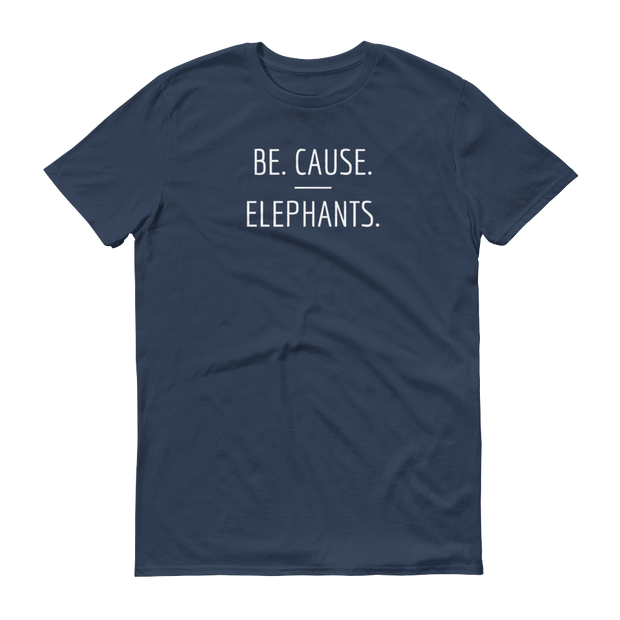 Be. Cause. Elephants Lake Blue T-Shirt – World With Wildlife