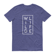 WILDLIFE Athletic Heather Blue T-Shirt  – World With Wildlife