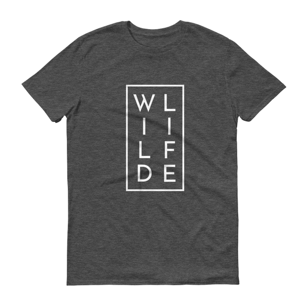 WILDLIFE Athletic Heather Dark Grey T-Shirt – World With Wildlife