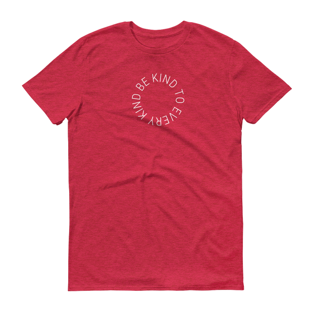 Be Kind to Every Kind Athletic T-Shirt Heather Red – World With Wildlife
