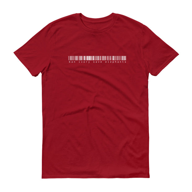 Ban Ivory Save Elephants Barcode Red T-Shirt – World With Wildlife