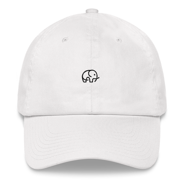 Cute Elephant Cap White – World With Wildlife