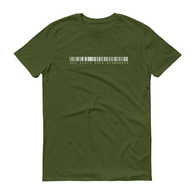 Ban Ivory Save Elephants Barcode Green T-Shirt – World With Wildlife