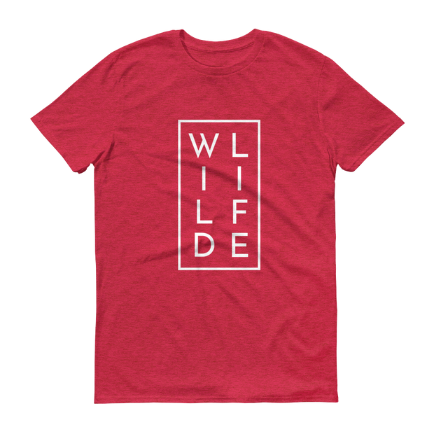 WILDLIFE Athletic Heather Red T-Shirt – World With Wildlife