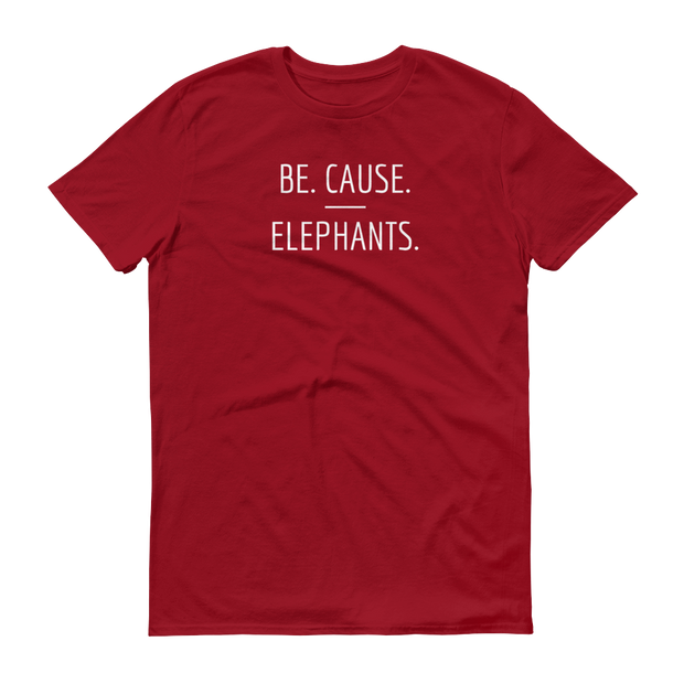 Be. Cause. Elephants Red T-Shirt – World With Wildlife