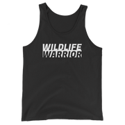 Wildlife Warrior Charcoal Dark Grey Triblend Tank Top: Wildlife Conservation Tank Tops