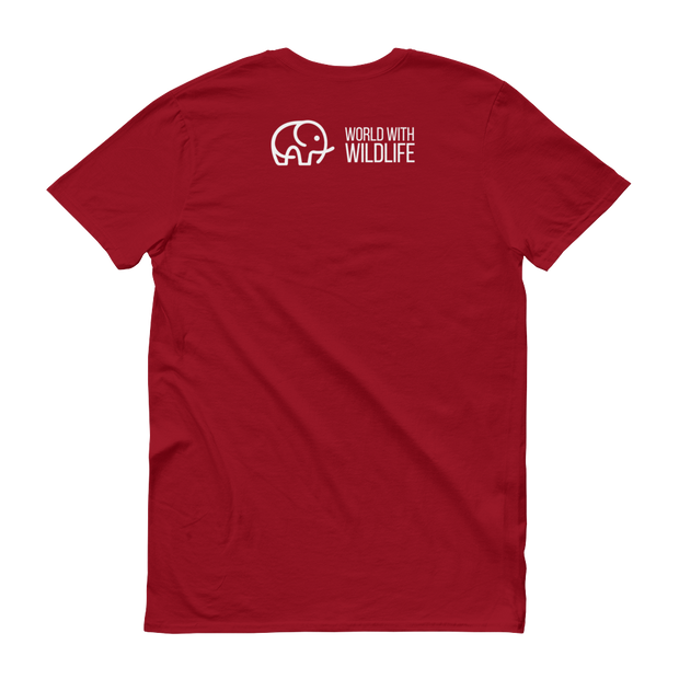 World With Wildlife Logo T-Shirt Red