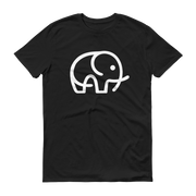 World With Wildlife Logo T-Shirt Black Front Side – World With Wildlife