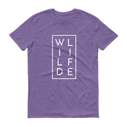 WILDLIFE Athletic Heather Purple T-Shirt  – World With Wildlife